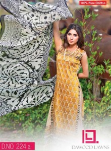 LIALI EMBROIDERED LAWN VOL. 2 BY DAWOOD 2014 `