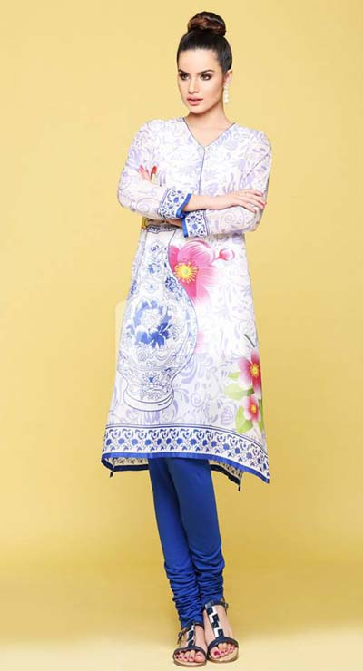 Nishat linen summer dress collection 2014 1