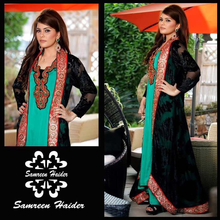 SamreenHaider Semi-Formal Gorgeous Outfits 2014 For Teenagers (6)