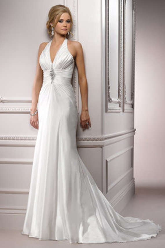 Sexy White Colored Halter Marriage Outfits Styles by Maggie Sottero (4)