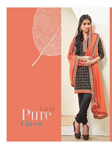 Shades - Cotton Designer Salwar Kameez with Pure Chiffon Dupatta 5