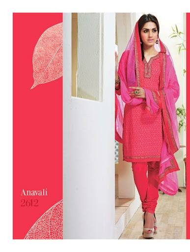 Shades - Cotton Designer Salwar Kameez with Pure Chiffon Dupatta