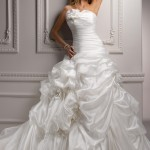 Strapless Ball Gown Wedding Dresses - Stylish and Elegant (1)