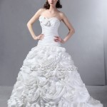 Strapless Ball Gown Wedding Dresses - Stylish and Elegant (4)