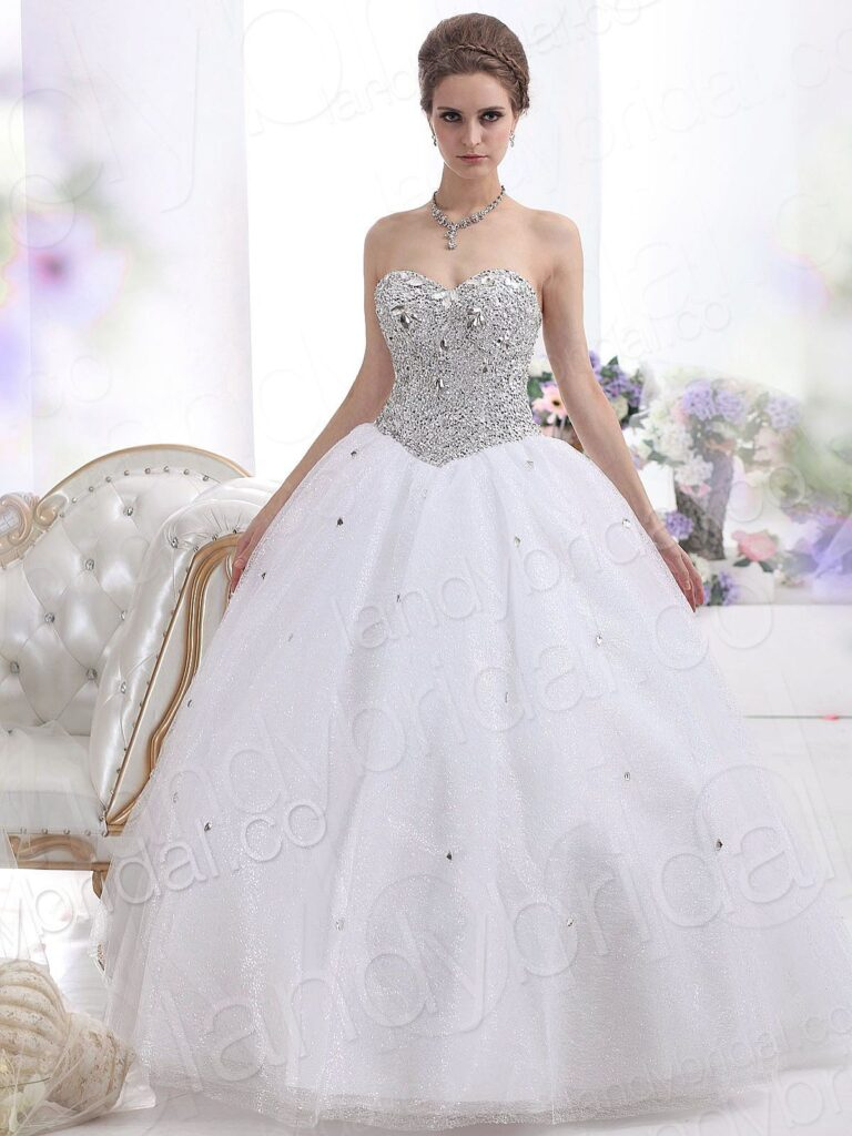 Strapless Ball Gown Wedding Dresses - Stylish and Elegant