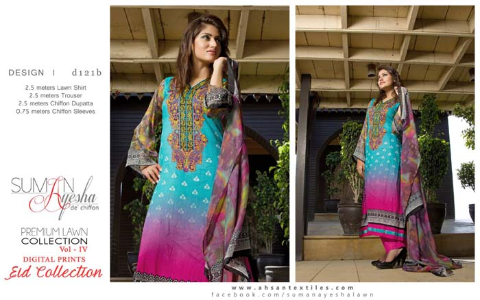 Suman Ayesha Eid Event Series 2014 Premium Lawn Vol 04 For Females (1)