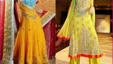 Taraz fashion Bridal Mahndi Dresses Collection 2014 2