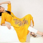 Yellow Casual Wear Dresses 2014 For Women 3