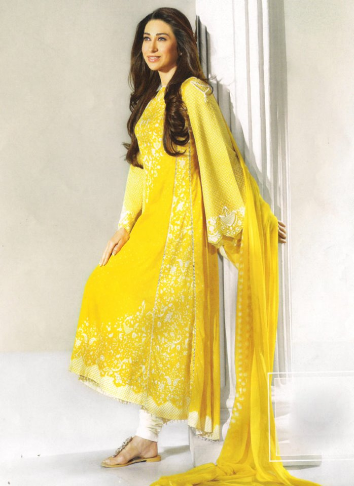 Yellow Casual Wear Dresses 2014 For Women 4
