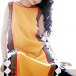 Yellow Casual Wear Dresses 2014 For Women 5