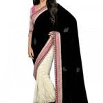 beautiful black saree 2014