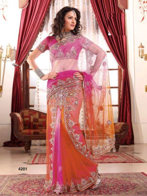 AGNI Marriage ceremony Saree Variations 2014 Avalon Clothes Wedding Outfits (5)