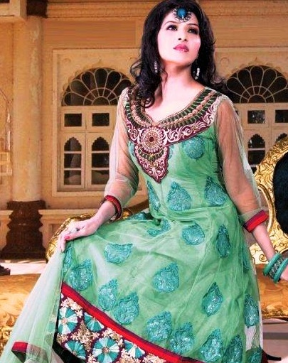 Anarkali Fashionable Garments For Females Eid Selection 2014 (2)