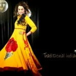 Anarkali Fashionable Garments For Females Eid Selection 2014 (7)