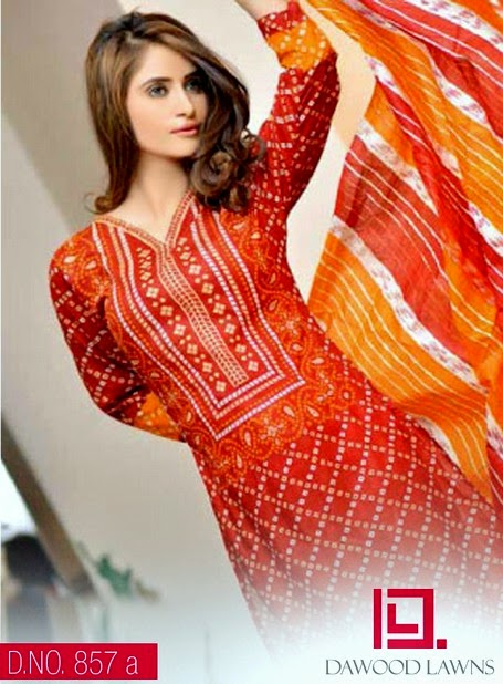 Classic Stylish Outfits Dawood Eid Lawn Vol-II Selection 2014 (6)