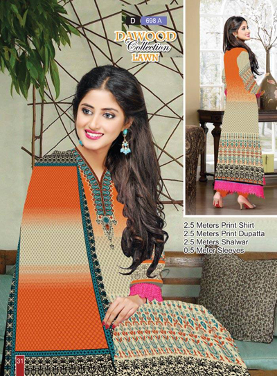 Dawood Lawns Summer Dresses Collection vol 5 - 2014 14
