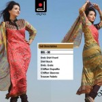 Fashionable Stitched Lawn Set 2014 For Eid Event By Dicha (2)