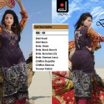 Fashionable Stitched Lawn Set 2014 For Eid Event By Dicha (4)