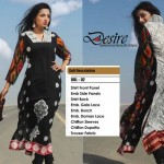Fashionable Stitched Lawn Set 2014 For Eid Event By Dicha (8)