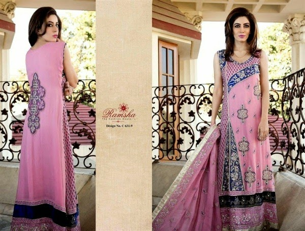 Indian Eid Festival Apparel Arrangement 2014 Brand New Release by Ramsha Zari (3)