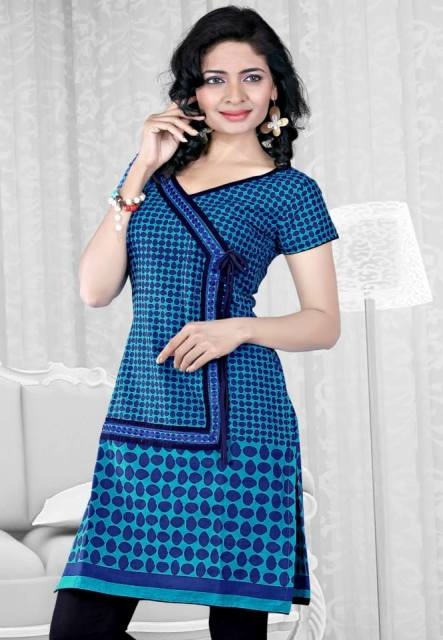 Modern Fashion Designer Summer Kurti Designs 2014 For Young Girls (3)