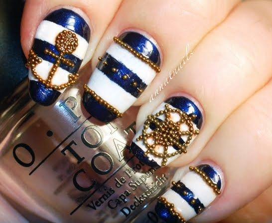Modern Lovable Nautcal Nail Ideas Elegance For Girls (1)