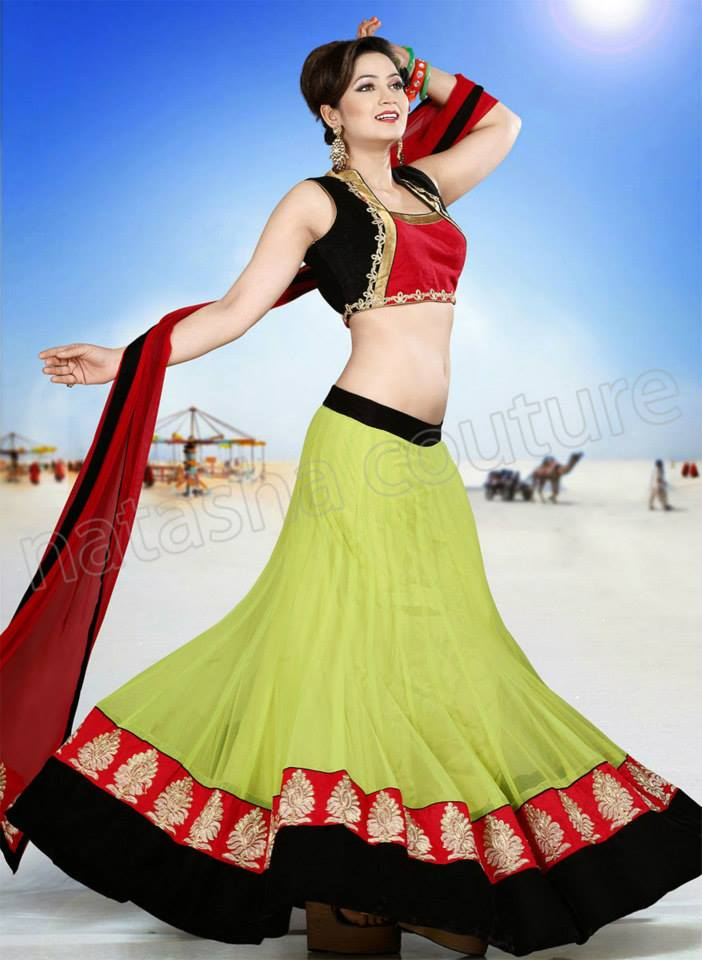 Most Up-to-Dated Trendy & Stitched Design of Lehenga Choli Outfits for Females (15)