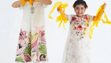 Tena Durrani Kids Wear Dresses Collection 2014 2