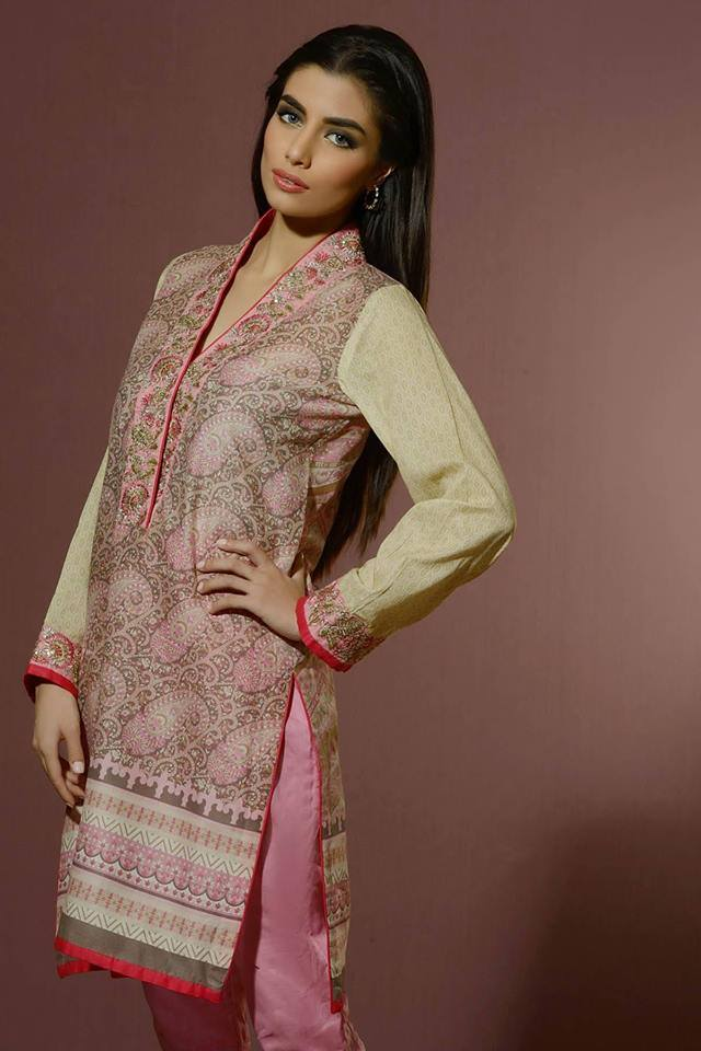 Umar Sayeed Eid Prints Lawn Dresses Collection 2014 8