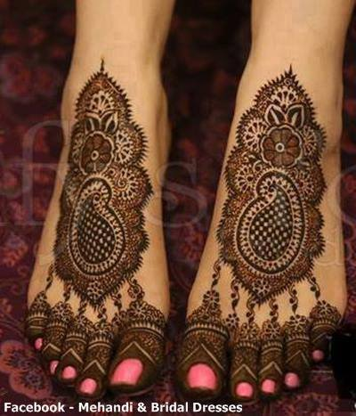 foot mehandi designs