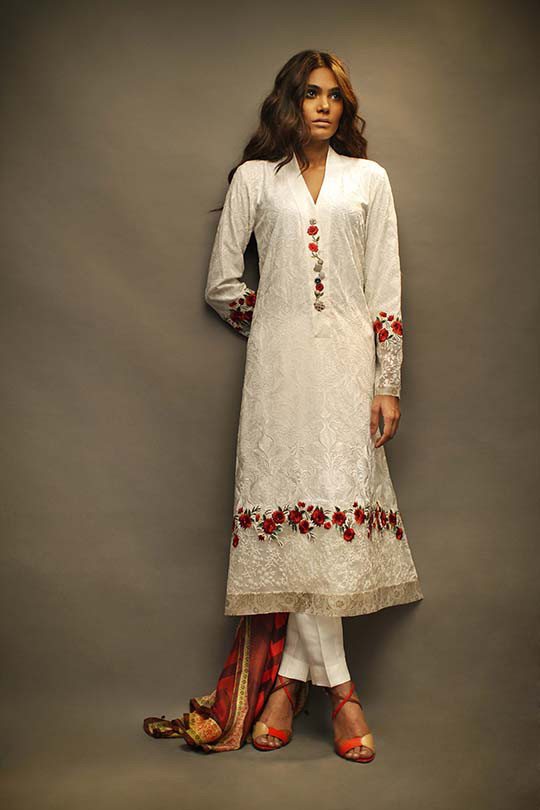 Bar-e-Sagheer  Gorgeous Eid Occasion Clothes by Sania Maskatiya 2014 (5)