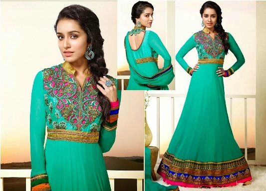 Fantastic Indian Shraddha Kapoor's Brides Trends  Anarkali Fashion 2014 (5)