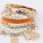 Gold Plated Beads Eid Vogue Females Bracelets Variety 2014 (1)
