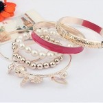 Gold Plated Beads Eid Vogue Females Bracelets Variety 2014 (2)