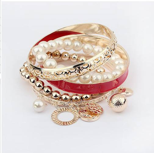 Gold Plated Beads Eid Vogue Females Bracelets Variety 2014 (3)