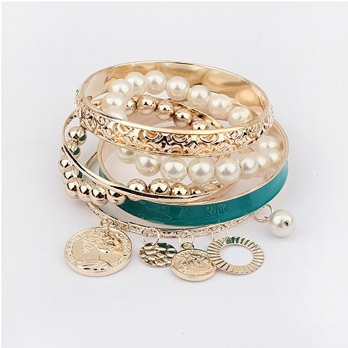 Gold Plated Beads Eid Vogue Females Bracelets Variety 2014 (5)