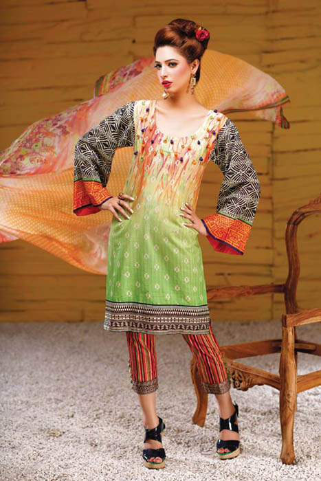 Hadiqa Kiani Clothes Attractive Eid Occasion Sequence 2014 Series - 3.0 (7)