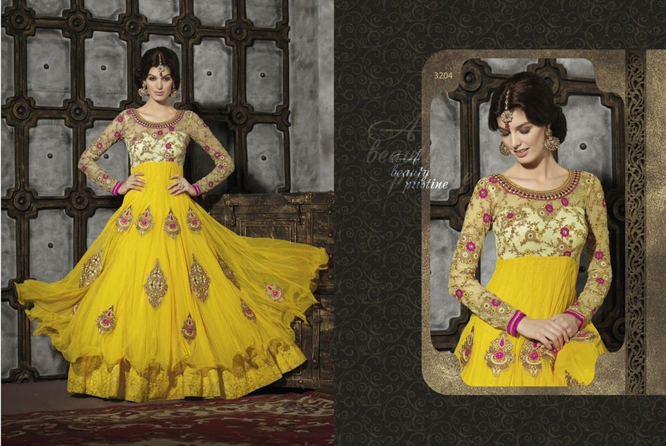 Luxury Attractive Anarkali Frocks Concepts 2014 for Eid Celebration (6)
