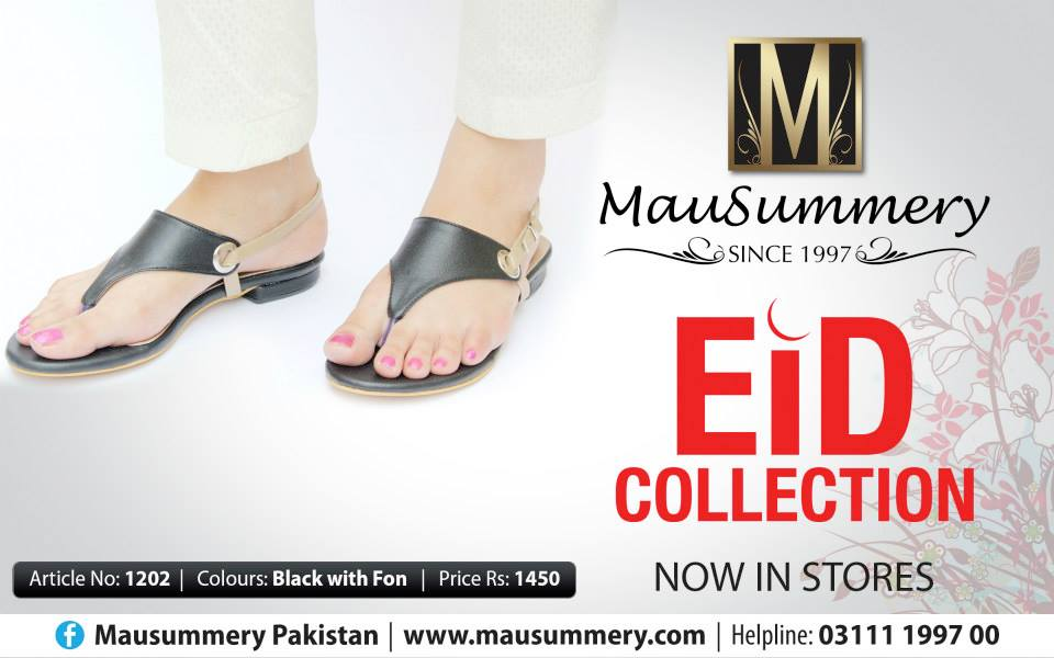 Mausummery Wonderful Eid Shoes Sequence 2014 For Young Women (2)
