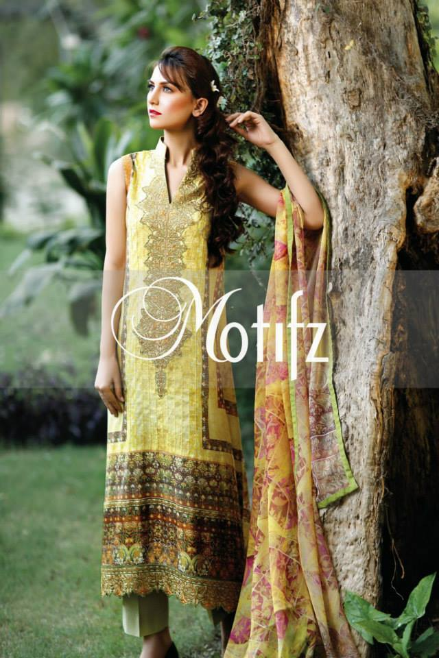 Motifz Eid Lawn Dresses Collection  2014  14