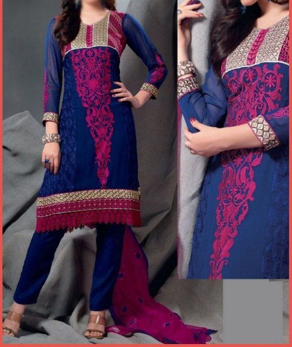 Natural Cotton Salwar Shoulder Styles List 2015 (10)