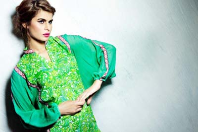 Satrangi Pret Wear Eid Dresses Collection 2014 1