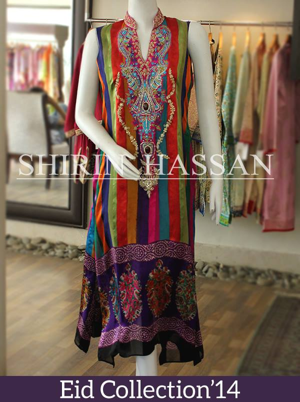 Shirin Hassan new eid dresses collection 2014 21