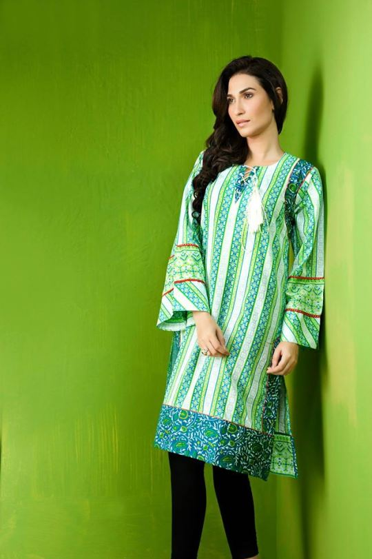 Superb Girls Innovative Eid Apparel 2014 by Bonanza Satrangi (4)