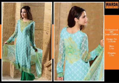 Warda Eid Dresses Collection 2014 1
