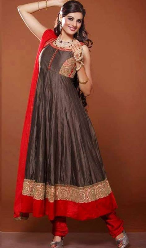 Wonderful Occasion Wear Anarkali Churidar Suits for Babes (4)