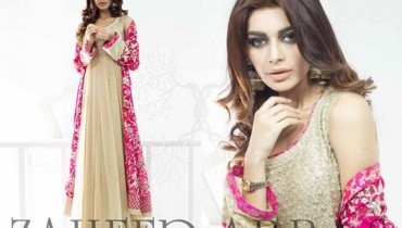 Zaheer Abbas New Eid Party Wear Dresses Collection 2014