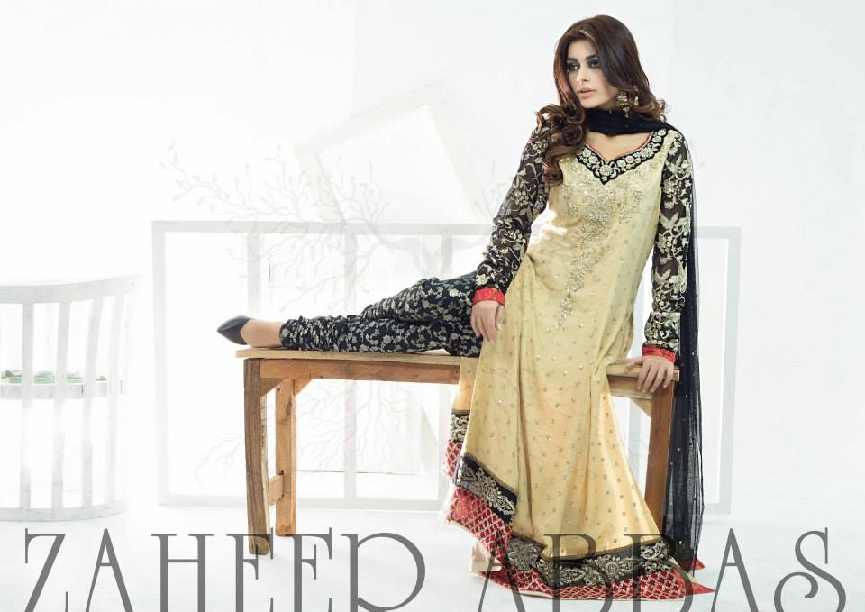 Zaheer Abbas New Eid Party Wear Dresses Collection 2014 9