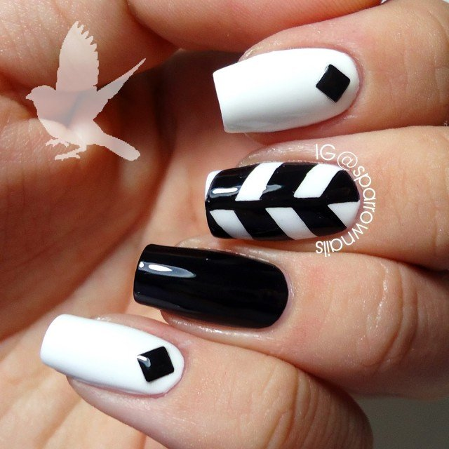 Black & White Nail Fashion Concepts 2014 (6)