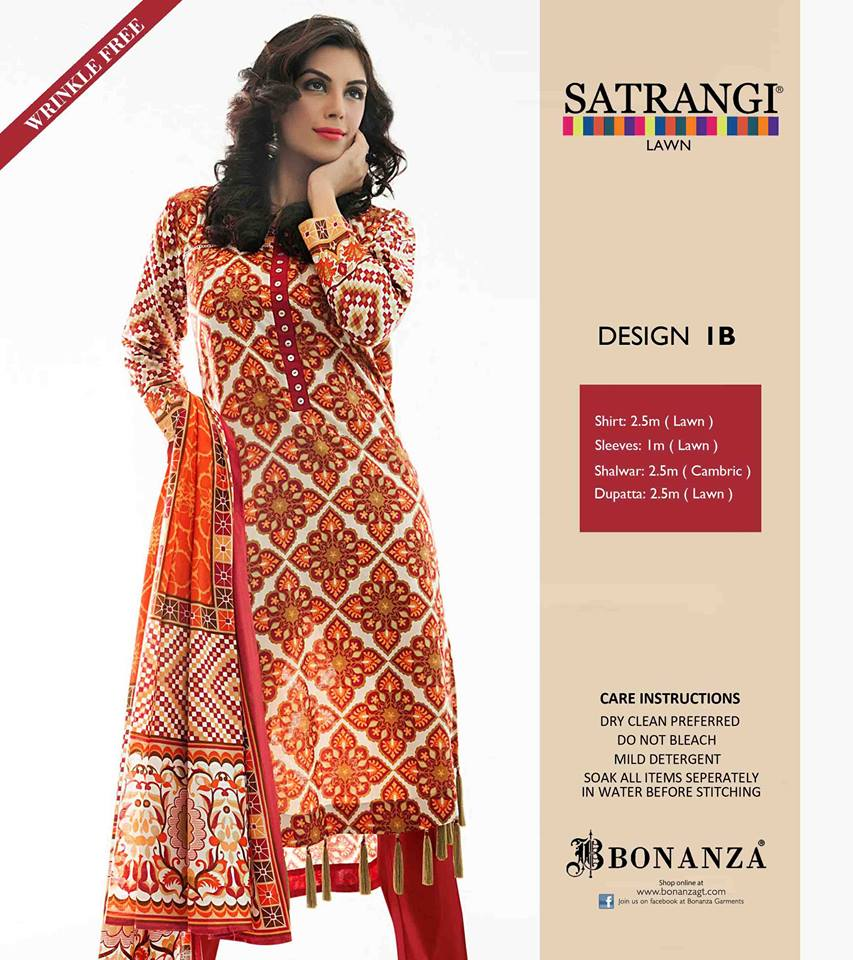 Bonanza Garments  New Dresses Collection 2014